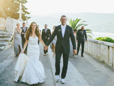 Beachside wedding in Vis Island, CROATIA