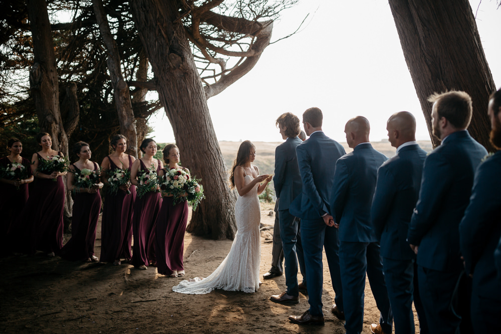 wedding ceremony in California near San Francisco